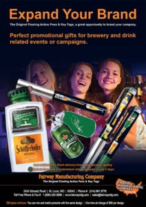 Brewers, Brewery and liquor Promotional Floaty Pens