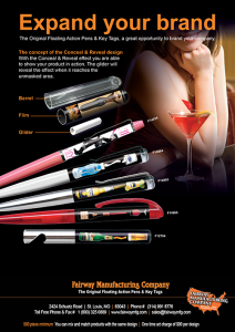 Conceal and Reveal Pens By Fairway Manufacturing Company