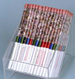Rock pencils display